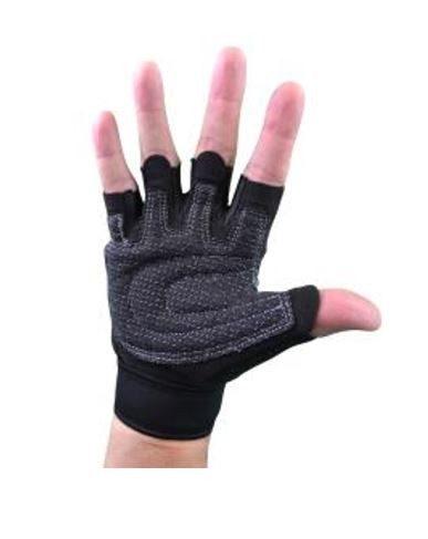 guantes con muñequeras (gris con huequitos) en 7