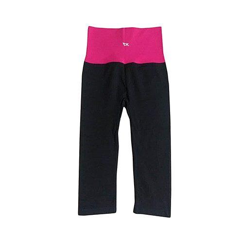 Leggins negro y color rosa