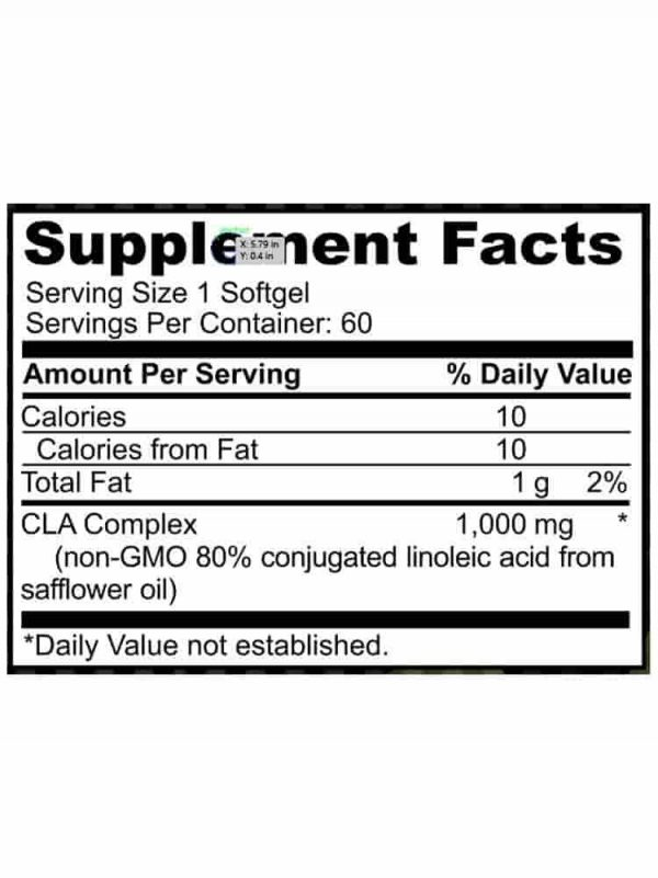 CLA - Conjugated Linoleic Acid 1000MG spec
