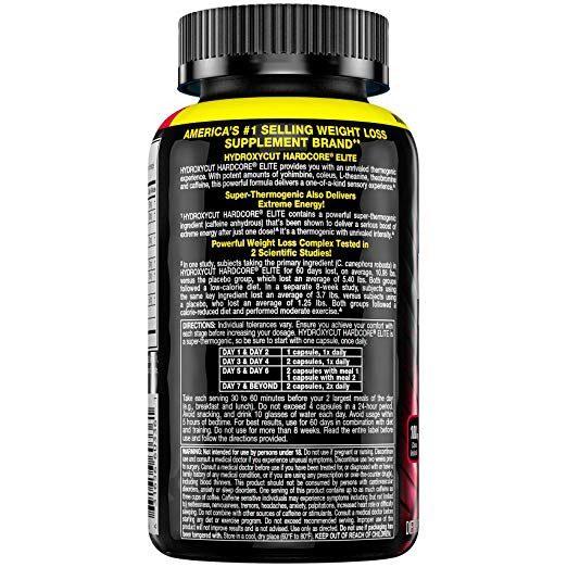 Hydroxycut Hardcore Elite 100 capsulas. Muscletech spec 2