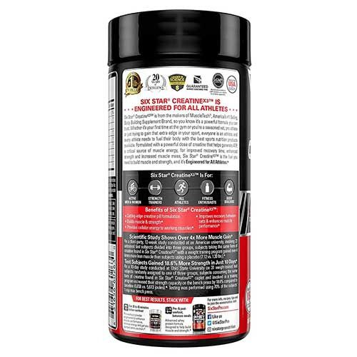 Elite Series Creatine X3 60 capsulas. Six Star frysllr