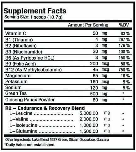 R2 - BCAA 5:2:1 + Glutamina + Vitaminas spec